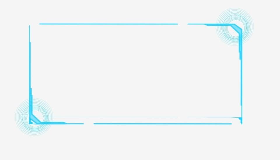 High-tech Border Frame Text Box Transparent, High Tech ...