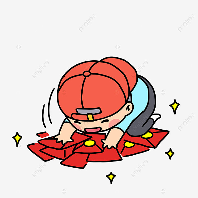 Red Envelope Cartoon Character Cartoon Man Wechat Red