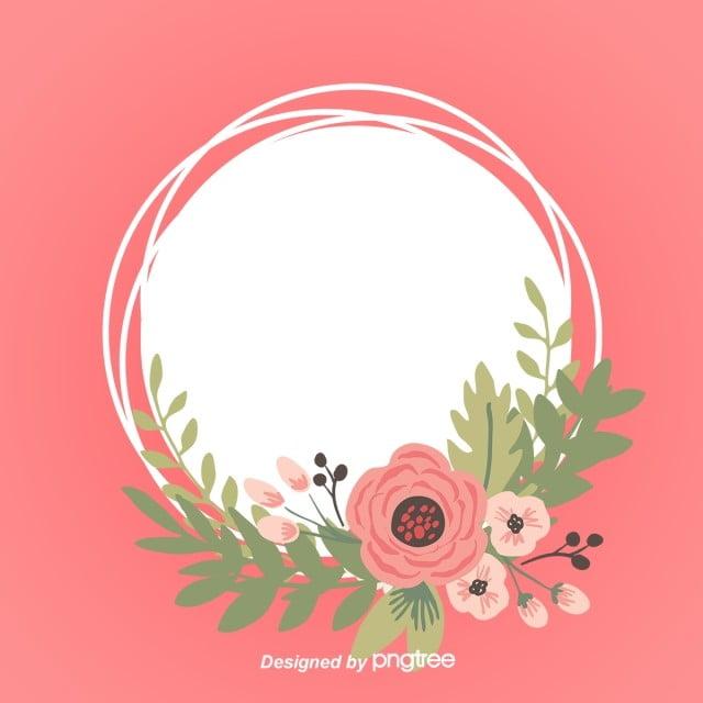 ilustra u00e7 u00e3o simples de flores pintadas  u00e0 m u00e3o fundo moldura