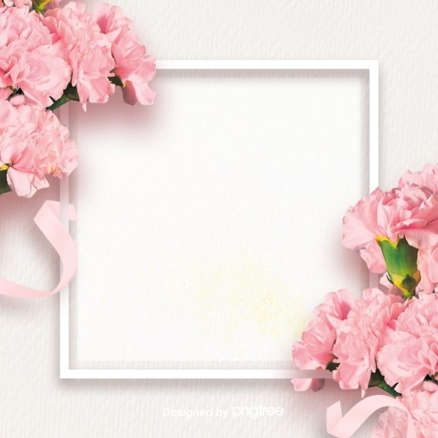 Pink Mothers Day Flyer Template For Free Download On Pngtree: Simple Pink Carnation Mothers Day Border Background, Silk