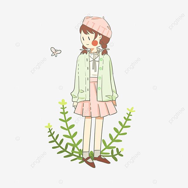 Ropa De Dia De Primavera Primavera Niña De Dibujos Animados
