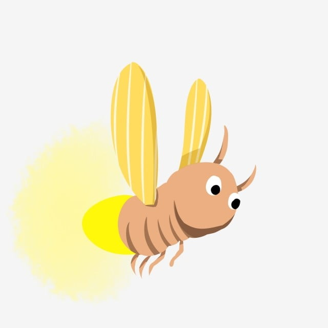 Summer Night Firefly Summer Insect, Firefly, Illustration ...