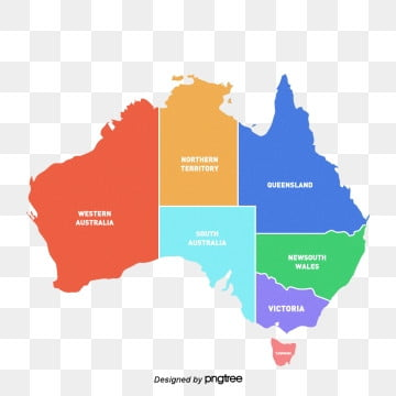 colorful creative map of australia, Colour, Australia, Map Of Australia PNG and PSD