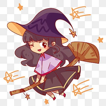 9b63e347099 Free Download. hand painted halloween witch flying broom