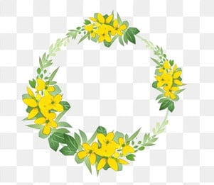 Yellow Wreath Png Images Vector And Psd Files Free
