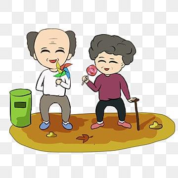 高齢者が集まる 親愛なる老人 高齢者への敬意 chongyangが高く登る, 親愛なる老人, 崇陽祭り, ダブルナインスフェスティバル老人収集喜び手描きイラスト PNGとPSD