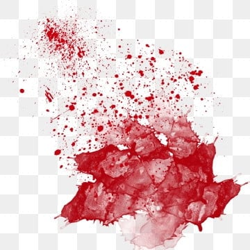 red bloodstain splashing ink abstract illustration image