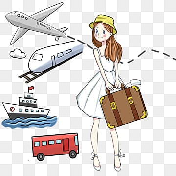 Travel tourism travel agency travel girl, Travel Clipart, Luggage, Parent-child Tour PNG and PSD