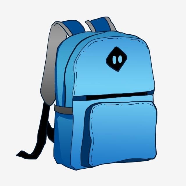 2ebcbc8b640e9 حقيبة الظهر الزرقاء حقيبة ظهر ظهره رسمت باليد حقيبة مدرسية ظهره رسمت ...