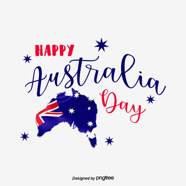 Blue Hand Painted Australian Flag Map Font Originality Creative