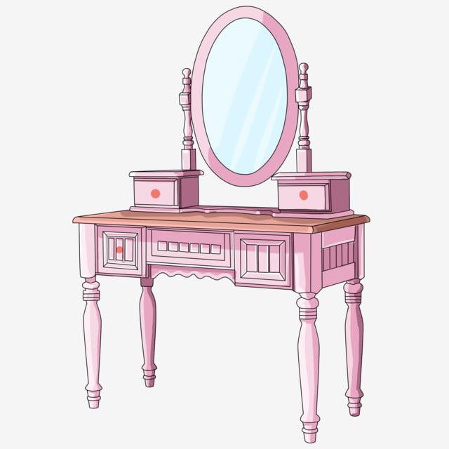 Fashion Bedroom Mirror Dressing Table Cartoon Mirror Pink Dressing