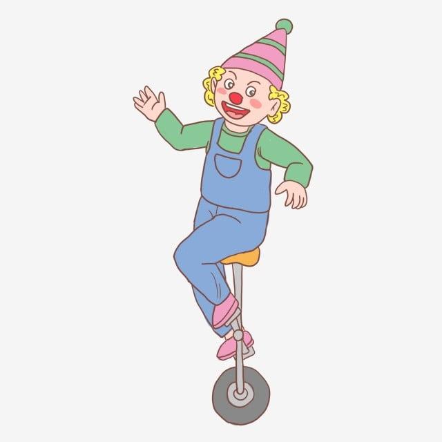Halloween Cirque Clown Dessiné à La Main Méchant Clown Main