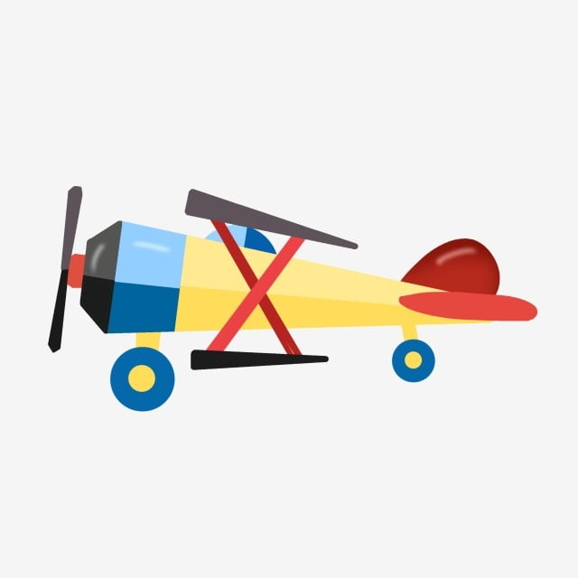 Hand Drawn Airplane Toy Plane Illustration Kids Toys Cartoon