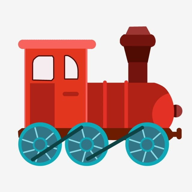 Gambar Kereta Yang Ditarik Tangan Kereta Kecil Mainan Kereta Api Mainan Kanak Kanak Tarik Mainan Omong Kosong Merah Roda Biru Png Dan Psd Untuk Muat Turun Percuma