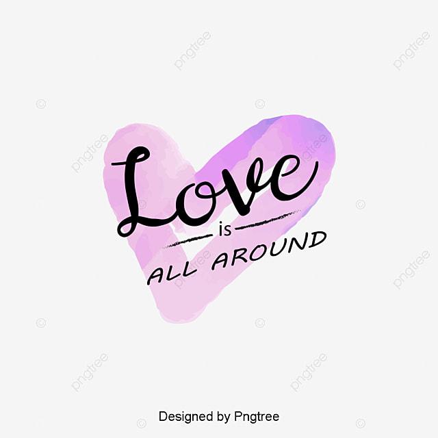 928c2010d Pintado de roxo DOS namorados Amor Amor romântico casal aquarela Letra  cursiva inglesa de design
