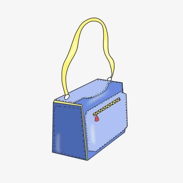 Sac et Gratuit messenger Illustration à Lady PNG bandoulière dame carré Sac PSD bleue bleu Sac de 6xUfq6rHn