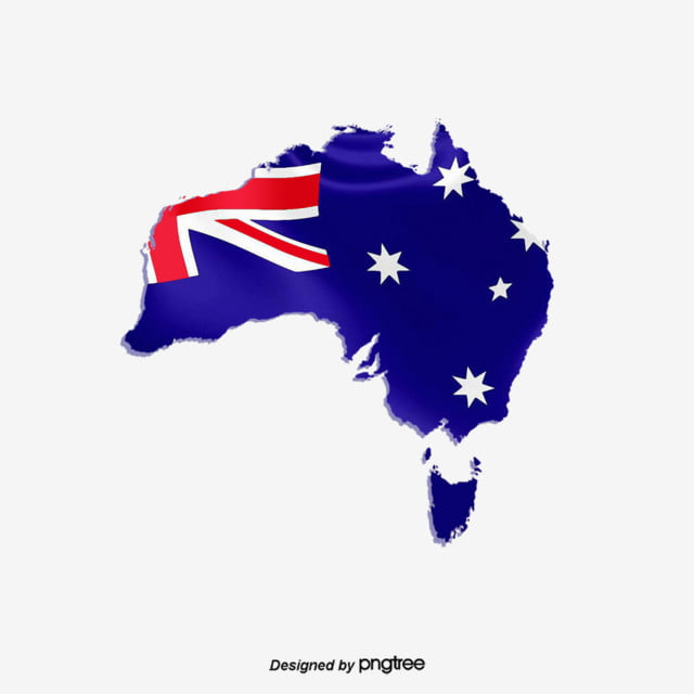Stereo Decoration Of Australian Flag Map Originality Creative Flag