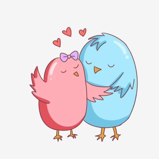 Deux Petits Oiseaux Oiseau De Dessin Animé Illustration