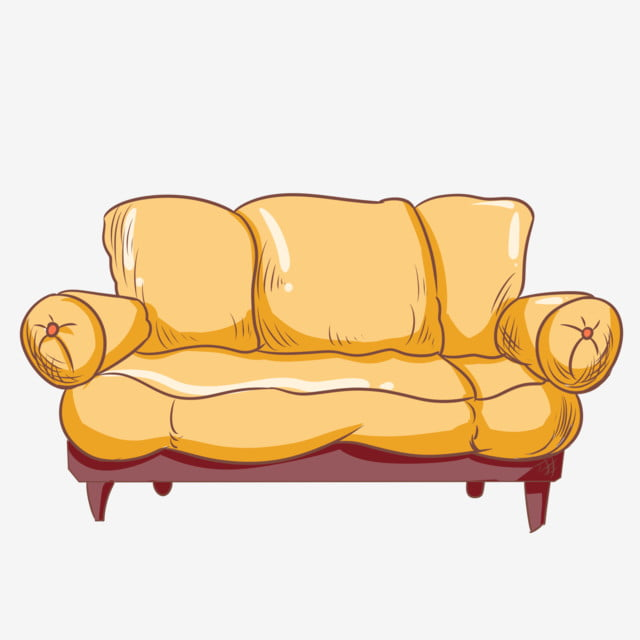 Yellow Sofa Hand Painted Sofa Living Room Furniture Padded Sofa