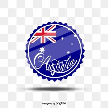 blue australian round icon hand drawn font elements, Originality, Creative Flag, Business Affairs PNG and PSD
