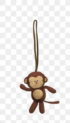 Monyet Kecil Memegang Pisang Pisang Buah Buahan Monyet Png Dan