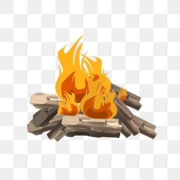 Fire camping. Clipart images png format