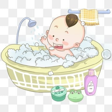 Baby In Bath Icon. Toddler Bathing Sign. Newborn Washing Symbol... Royalty  Free Cliparts, Vectors, And Stock Illustration. Image 48830344.