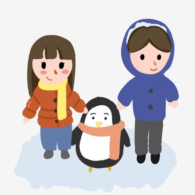 Pequeño Pingüino Azul Chaqueta Lindo Abajo Gordito Niño Ojos qr8Czq