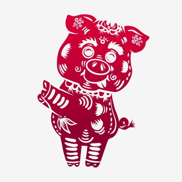 New Year 2019 Year Of The Pig Lovely Year Of The Pig Red Gradient
