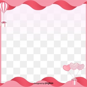 valentines day romantic pink heart love balloon border, Frame Clipart, Balloon, Romantic PNG and PSD