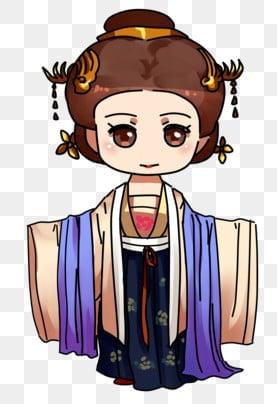 中國風女性角色 復古風 古風女 古裝女, 中國古風風人物, 復古風, 復古女孩 PNG和PSD圖片素材 插畫圖片