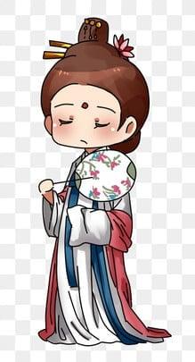中國風拿傘女性角色 復古風 古風女 古裝女, 古裝女, 古裝, 古代扇子 PNG和PSD圖片素材 插畫圖片