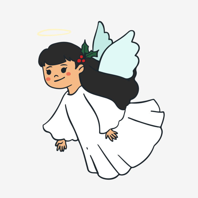 Anjo Bonito Menina Anjo Menina Anjo Dos Desenhos Animados Anjo