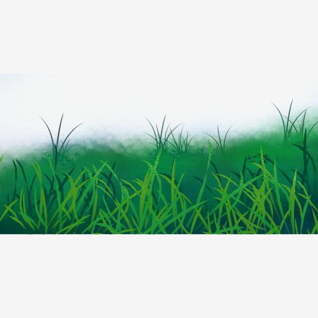 dessin u00e9  u00e0 la main vert prairies pelouse illustration de dessin anim u00e9 cr u00e9ative de bande dessin u00e9e