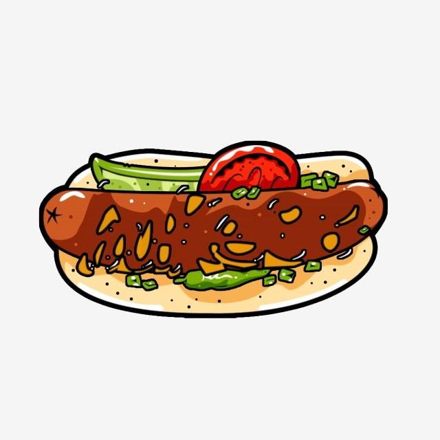 Makanan Segera Makanan Segera Makanan Cepat Saji Indah Kartun