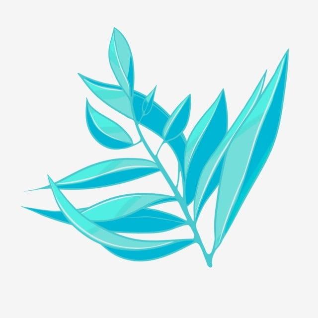 夏の植物 柳 手描き 透明な背景 イラスト 緑の枝 手描きの葉画像とpsd
