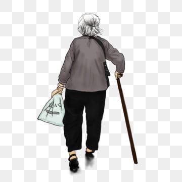 おばあちゃん おばあちゃん 漫画老人 親切に, おばあちゃん, 親切に, 漫画老人 PNGとPSD