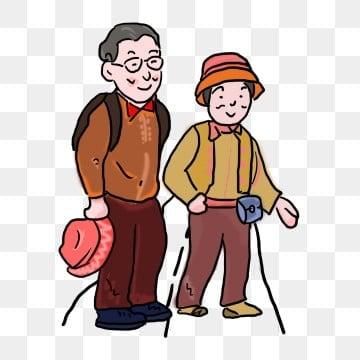 ダブルナインスフェスティバル 高齢者への敬意 チョンヤン祭り高齢者 9月9日, 9月9日漫画老人漫画家族旅行chongyang, チョンヤン祭り高齢者, 家族 PNGとPSD