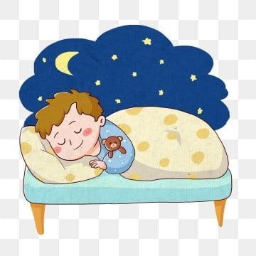 ночь луна сон сон, постельный клипарт, прекрасный, рисованная версия Q PNG и PSD