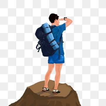 summer travel backpack, Mountaineering, Looking Away, Camping Equipment PNG and PSD