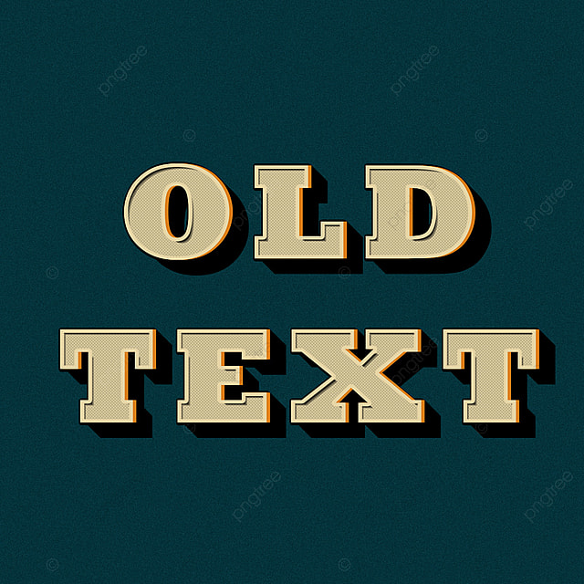 Vintage Old Retro Text Effect Art Font For Free Download