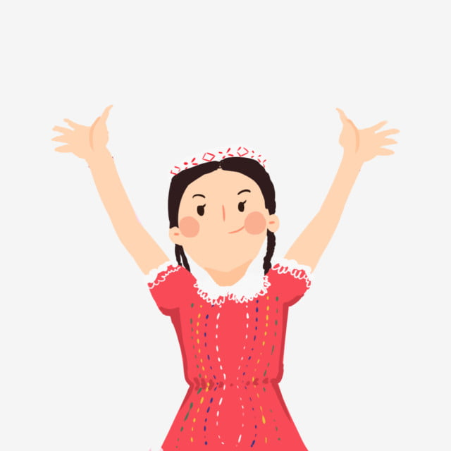 Xinjiang Lovely Girl Raise Your Hands Double Face Red Smile Red Skirt Png Transparent Clipart Image And Psd File For Free Download Australiansuper organization illustration, raise your hand png. xinjiang lovely girl raise your hands