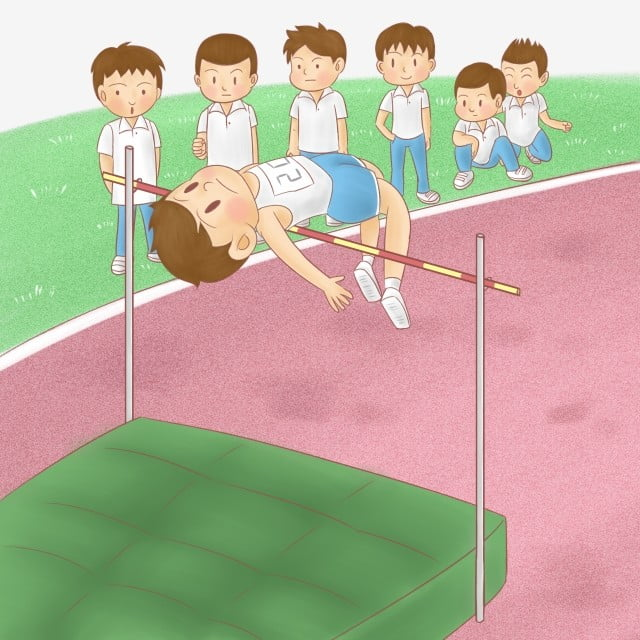 Salto De Altura La Competencia Atletico Parque Infantil Saltaran Dibujos Atletico Png Y Psd Para Descargar Gratis Pngtree