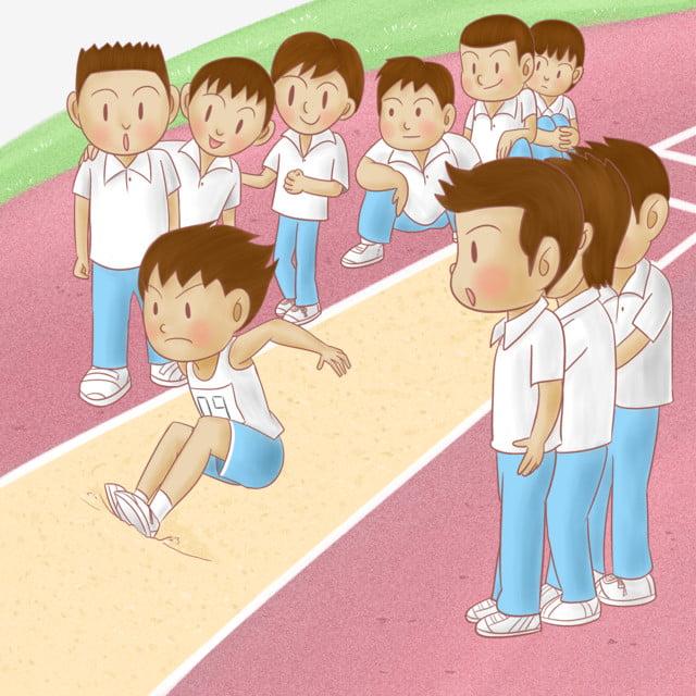 Salto De Longitud La Competencia Atletico Parque Infantil Estudiante De Primaria Salto Deportivos Png Y Psd Para Descargar Gratis Pngtree
