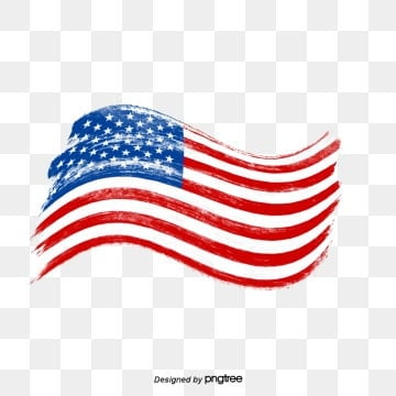 Flying the American Flag as an Old Brush, National Flag, Brush, Usa PNG and PSD