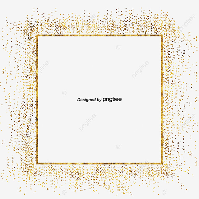 04509e0579be Golden Metal Particle Square Border