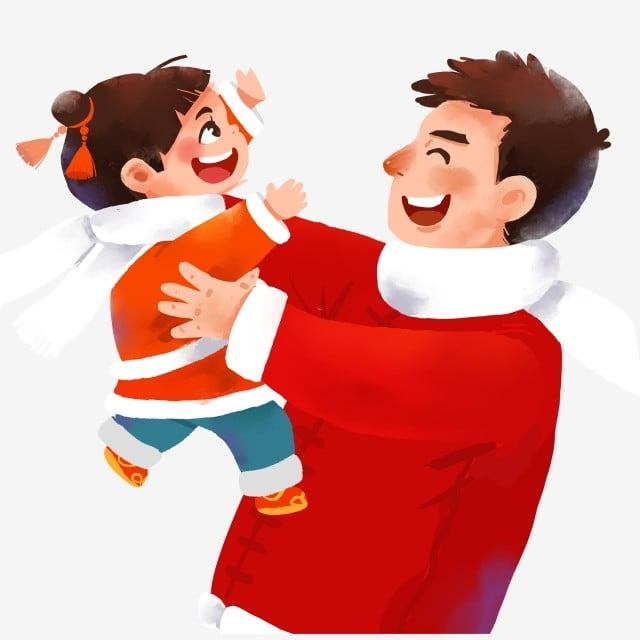 Gambar Lukisan Kartun Seorang Anak Dan Ayah Dengan Tangan Terbuka Lebar Gadis Kecil Kartun Dengan Kutang Akan Memeluk Ayah Memegang Anak Selamat Ayah Dan Anak Perempuan Anak Dan Kartun Png Dan Psd
