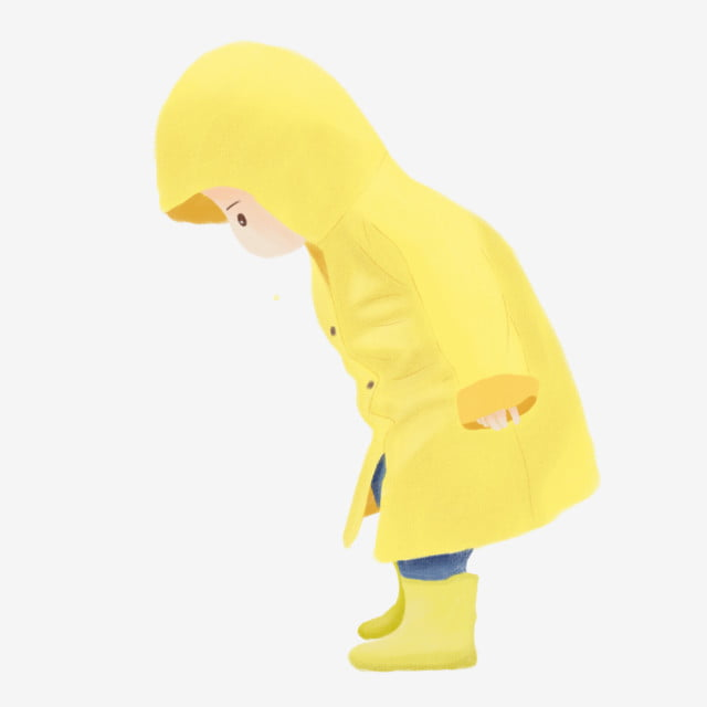 Yellow Raincoat Png, Vector, PSD, And Clipart With