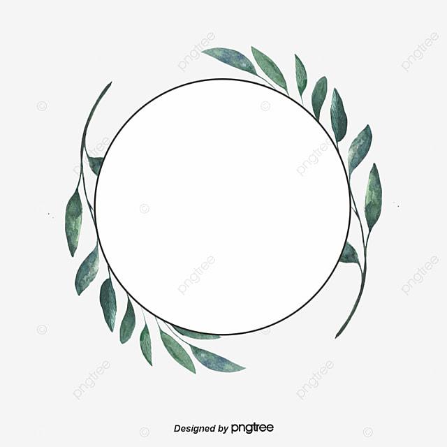 bordure circulaire de feuilles vertes rond peindre
