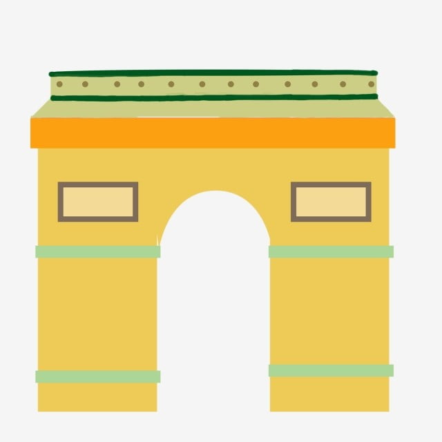 57c0d8cbd مرسومة باليد الأصفر جدار المدينة سور المدينة القديمة القوس القديم القوس  الأوروبي حر PNG و PSD